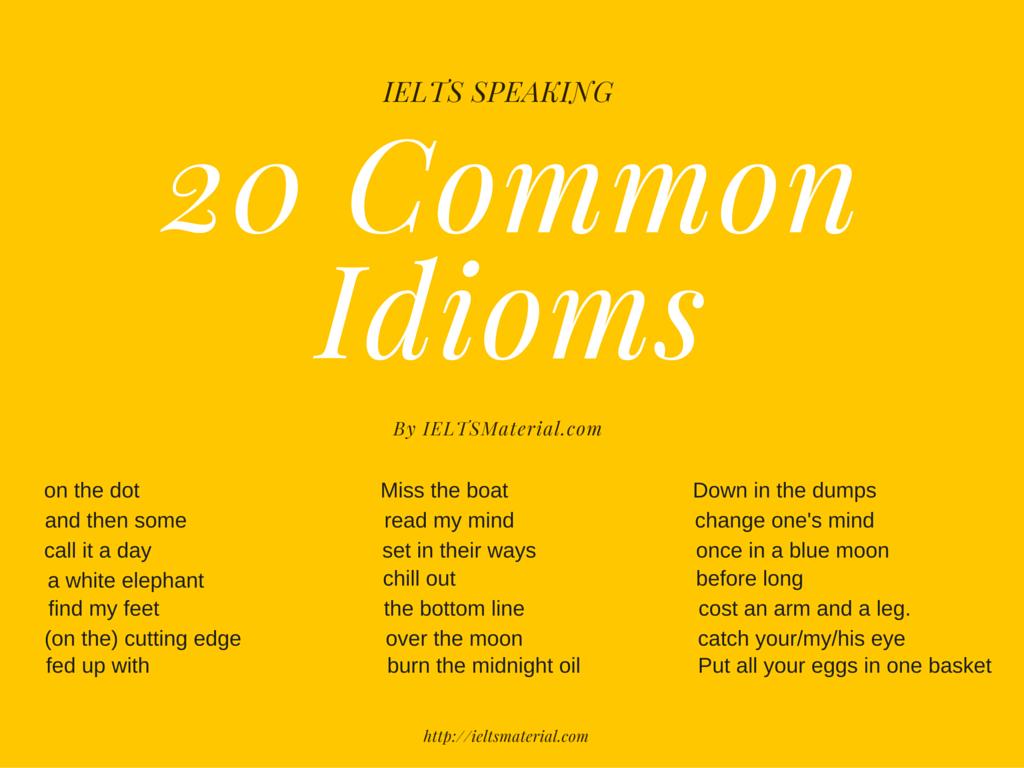 Essay using idioms