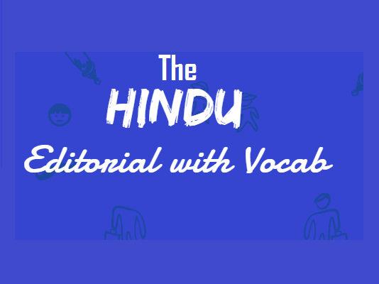 Hindu Editorial