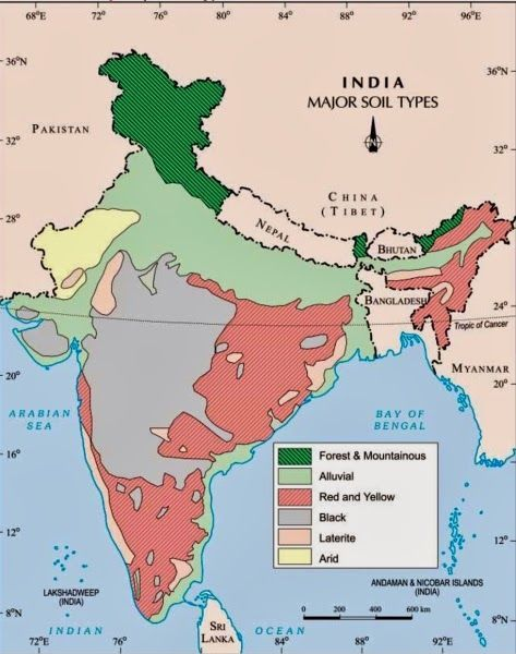 Soil Map Of India INDIA SOIL MAP | Gk India Today