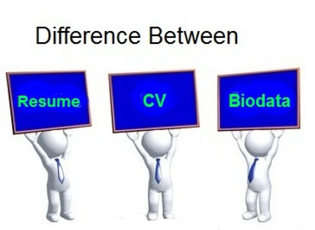 Difference Between Cv Resume Biodata Gk India Today